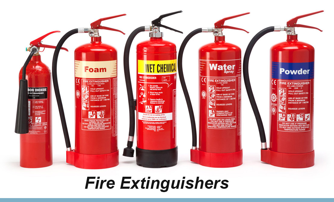 All Classification of Fire Extinguishers & Extinguishing Agents