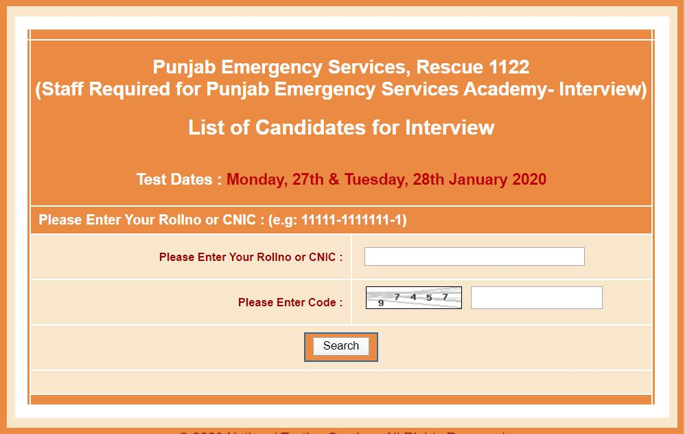 Staff Required for Punjab Emergency Services Academy- Interview January 2020 Rescue 1122
